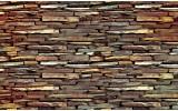 Fotobehang Stenen, Muur | Bruin | 104x70,5cm