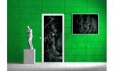 Deursticker Muursticker Tijger, Dieren | Groen | 91x211cm
