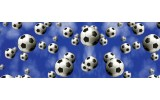 Fotobehang Vlies Voetbal | Blauw, Wit | GROOT 624x219cm