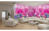 Fotobehang Vlies Tulpen, Bloemen | Roze | GROOT 624x219cm