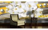 Fotobehang Bloemen, Orchideeën | Zilver | 152,5x104cm