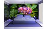 Fotobehang Bloemen | Groen | 104x70,5cm