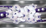 Fotobehang Vlies | Bloemen, Orchideeën | Zilver | 368x254cm (bxh)