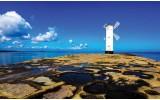 Fotobehang Vlies | Vuurtoren | Blauw | 368x254cm (bxh)