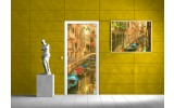 Fotobehang Steden | Oranje | 91x211cm