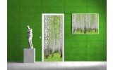 Deursticker Muursticker Bos, Boom | Groen | 91x211cm