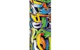 Fotobehang Graffiti | Oranje | 91x211cm