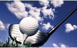 Fotobehang Golf | Blauw, Wit | 208x146cm