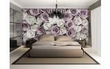 Fotobehang Rozen, Bloemen | Wit | 104x70,5cm