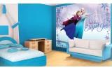 Fotobehang Papier Disney, Frozen | Blauw | 254x184cm