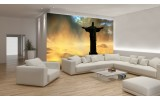 Fotobehang Jezus, Brazilië | Zwart | 312x219cm