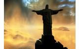 Fotobehang Vlies | Jezus, Brazilië | Zwart | 368x254cm (bxh)