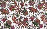 Fotobehang Papier Bloemen | Wit, Groen | 368x254cm