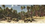 Fotobehang Jungle, Dinosaurussen | Groen | 250x104cm