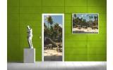 Deursticker Muursticker Stand | Groen | 91x211cm
