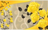 Fotobehang Vlies   Bloemen, Rozen   Geel   368x254cm (bxh)