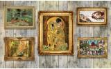 Fotobehang Vlies   Hout, Schilderijen   Geel   368x254cm (bxh)