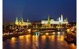 Fotobehang Vlies | Moscow, Stad | Oranje | 368x254cm (bxh)