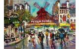 Fotobehang Moulin Rouge | Grijs | 416x254