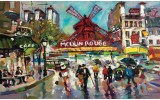 Fotobehang Vlies | Moulin Rouge | Groen | 368x254cm (bxh)