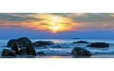 Fotobehang Zee | Blauw, Geel | 250x104cm