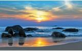 Fotobehang Vlies | Zee | Blauw, Geel | 368x254cm (bxh)