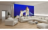 Fotobehang Papier London | Blauw | 368x254cm