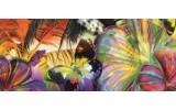 Fotobehang Vlinder, Bloemen | Geel | 250x104cm
