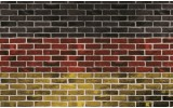 Fotobehang Vlies | Stenen, Muur | Rood | 368x254cm (bxh)