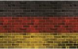 Fotobehang Stenen, Muur | Geel | 312x219cm