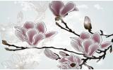 Fotobehang Bloemen, Magnolia | Grijs | 416x254