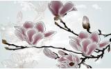 Fotobehang Vlies | Bloemen, Magnolia | Grijs | 368x254cm (bxh)