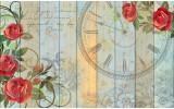 Fotobehang Hout, Bloemen | Rood | 152,5x104cm