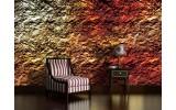 Fotobehang Muur | Oranje | 312x219cm