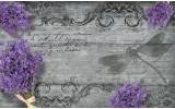 Fotobehang Landelijk, Bloemen | Paars | 152,5x104cm
