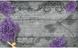 Fotobehang Vlies   Landelijk, Bloemen   Paars   368x254cm (bxh)