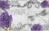 Fotobehang Papier Betonlook, Bloemen | Grijs | 368x254cm