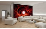 Fotobehang Abstract | Rood | 208x146cm