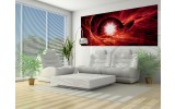 Fotobehang Abstract | Rood | 250x104cm
