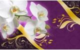 Fotobehang Bloemen, Orchidee | Paars | 104x70,5cm