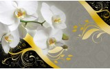 Fotobehang Papier Bloemen, Orchidee | Grijs | 368x254cm