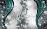 Fotobehang Vlies | Abstract, Bloem | Zilver | 368x254cm (bxh)