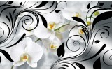 Fotobehang Orchidee, Bloem | Wit | 104x70,5cm