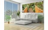 Fotobehang Brug, Natuur | Groen | 250x104cm