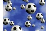 Fotobehang Voetbal | Blauw | 208x146cm