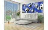 Fotobehang Voetbal | Blauw | 250x104cm