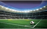 Fotobehang Vlies   Voetbalstadion   Groen   368x254cm (bxh)
