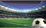 Fotobehang Vlies | Voetbalstadion | Groen | 368x254cm (bxh)