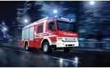 Fotobehang Auto, Brandweer | Rood | 104x70,5cm