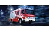 Fotobehang Auto, Brandweer   Rood   250x104cm